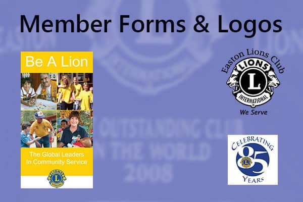 Members forms and logos banner with a few samples.