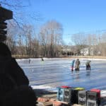 Kids skating on Yardley-Wood-Rink.