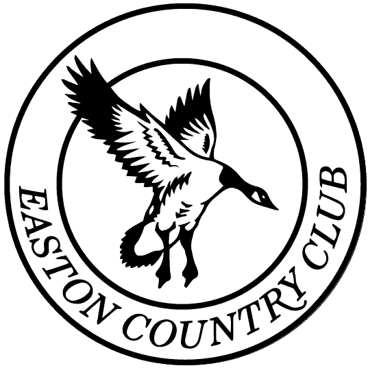Easton Country Club Logo in Black and White