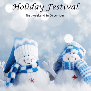 Easton Holiday Festival Snow People Logo