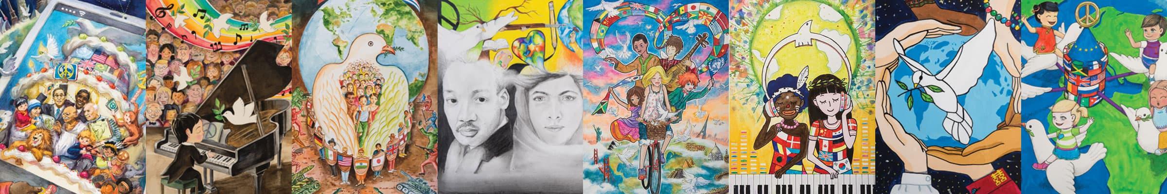 Sampling of LCI Peace Poster Winners.