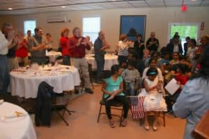 Math Challenge Awards at Easton Lions Club Meeting May 24, 2017