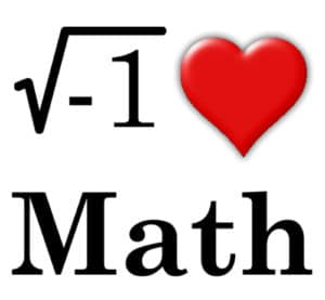 I Love Math with square root of -1 = I.