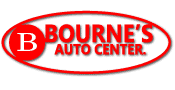 Bourne's Auto Center logo.