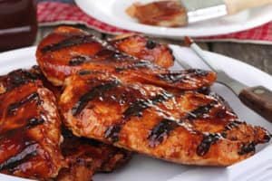 Grilled barbaque chicken.
