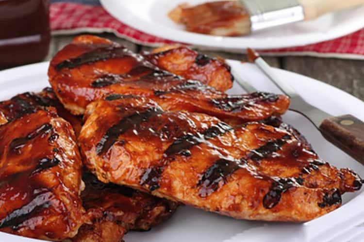 Grilled barbaque chicken.