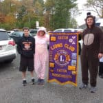 Halloween parade lead by Easton Lions and Leo Clubs.