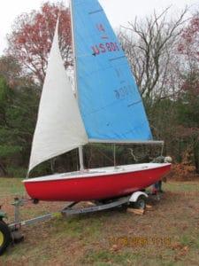 Teal 15 foot sail boat 1961.