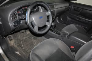 Bourne Auto donataed 2007 Ford Taurus inside view.