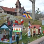 Holiday Festival Houses in Easton at Oakes Ames Memorial Hall.