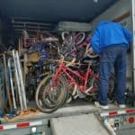 Loading truck to go to YMCA d'Haiti