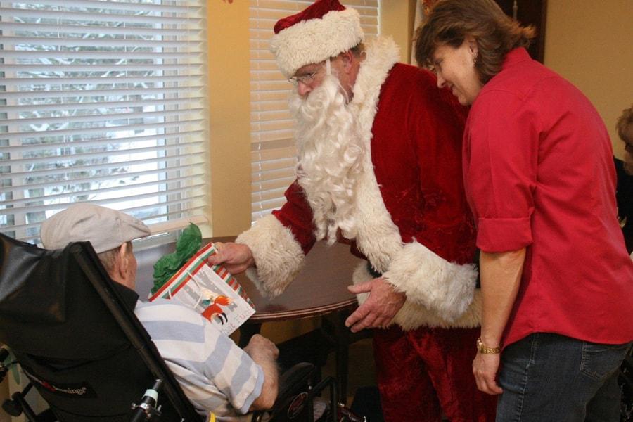 Santa for Seniors 2016.