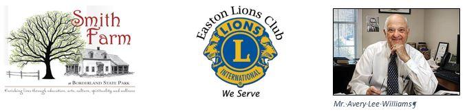 Smith Farm Farmhouse Renovation Challenge Sponsors Easton Lions Club and Avery Lee Williams.