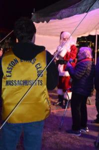 Santa on the rockery at the Holiday Festival.