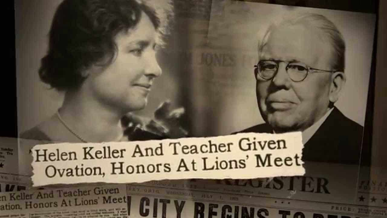 Hellen Keller and Melvin Jones honors at Lion's Meet
