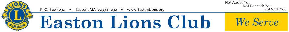 Easton Lions Club We Serve Letterhead.