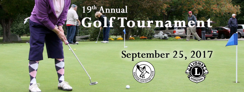 Easton Lions Club 19th annual Golf Tournament September 25, 2017