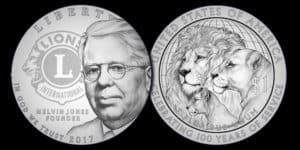 Lions Club 2017 Centennial Commemorative $1 Coin