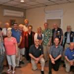 Easton Lions Melvin Jones Fellows at Club Meeting in 2016.