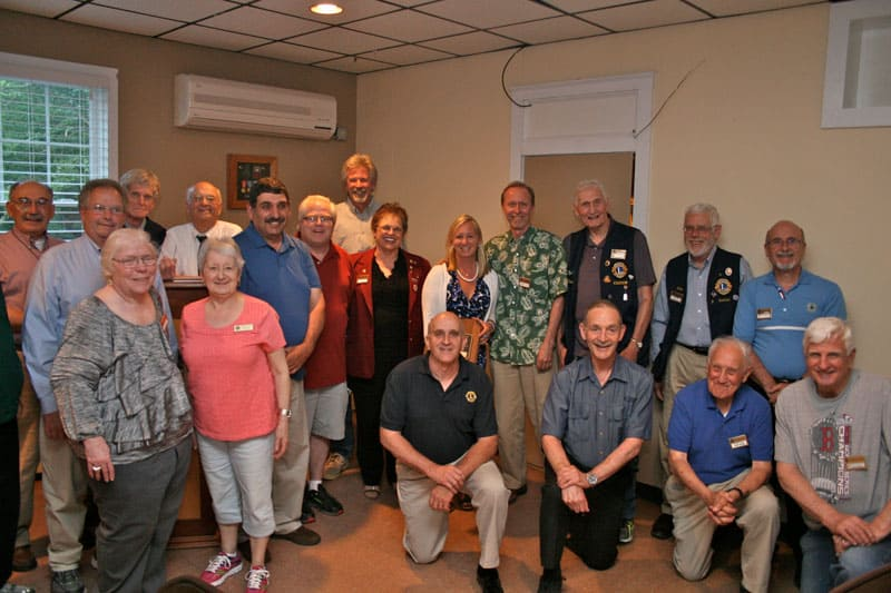 Easton Lions Melvin Jones Fellows at Club Meeting in 2016.