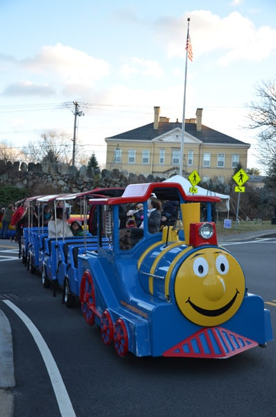 Holiday Festival Trackless Train.