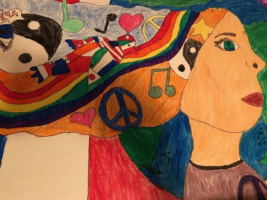 Easton Lions Peace Poster Contest 2017 Winner 1st Place