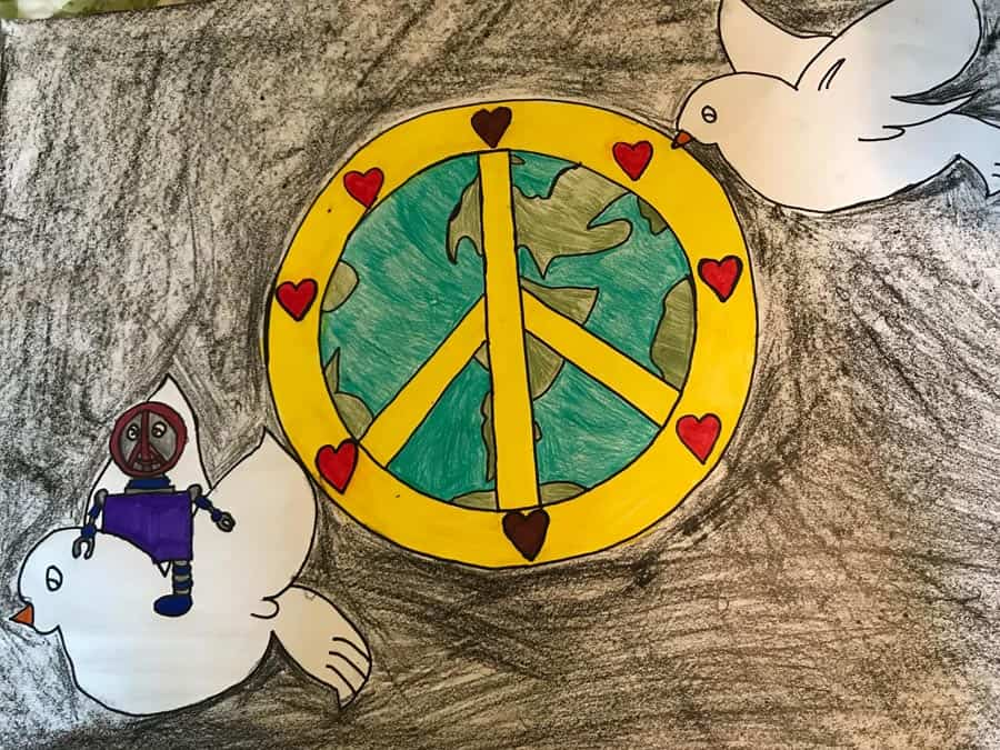 Easton Lions Peace Poster Contest 2017 Winner 2nd Place