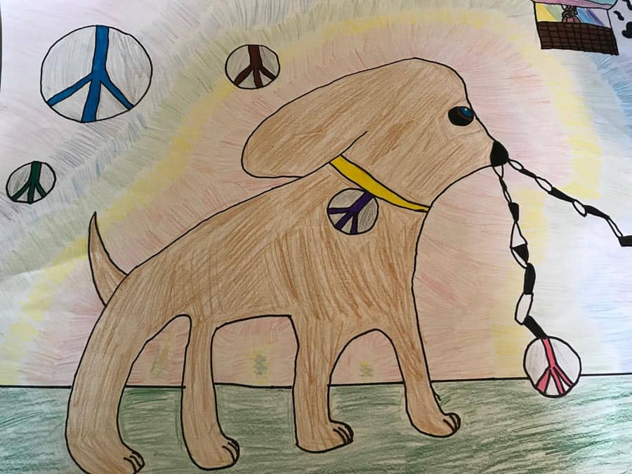 Easton Lions Peace Poster Contest 2017 Winner 3rd Place