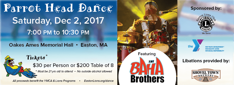 Parrot Head Charity Dance, Easton, MA, Dec 2, 2017 with the BaHa Brothers.