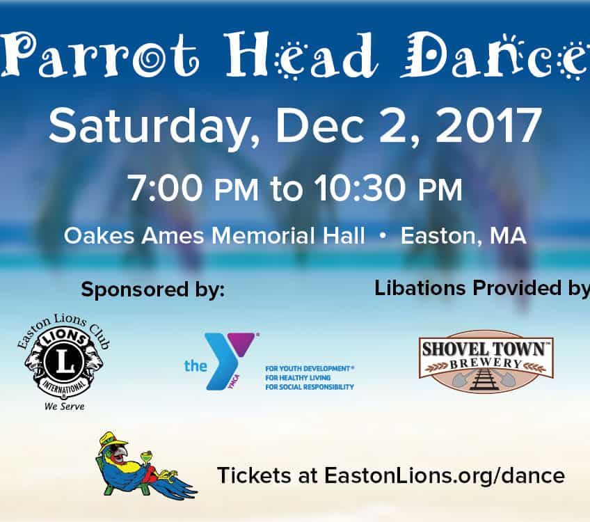 Parrot Head Dance Dec 2, 2017 Easton Lions Club Oakes Ames Memorial Hall, Easton, MA