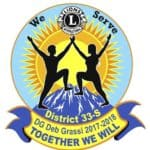 District 33-S Presidents Logo 2017-2018 Deb Grassi-Together we will