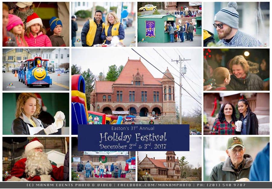 Easton Holiday Festival 2017 Photo montage by Manam Photography