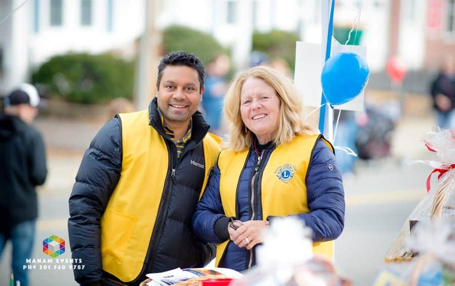 Ram (First VP) and Pattie (President) at Raffle Table