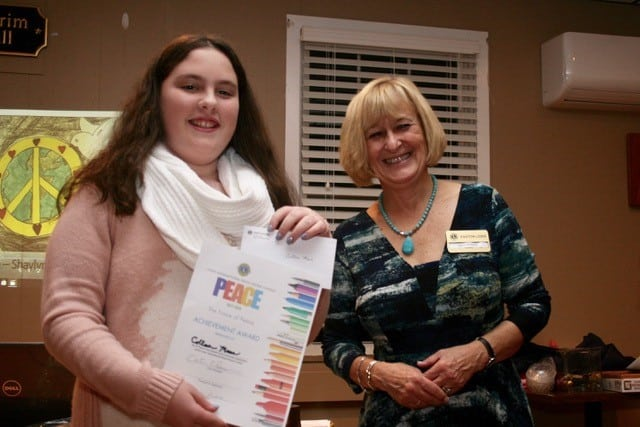Award Ceremony Easton Lions Peace Poster Contest 2017 Winner 3rd Place