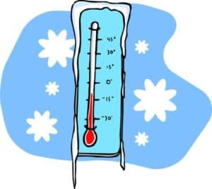 Thermometer cold.