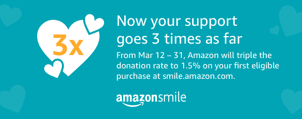Amazon promo March 2018, triple your impact