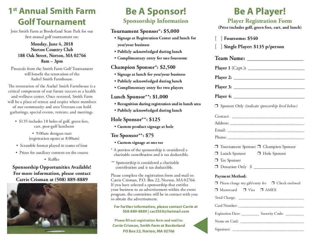 Smith Farm t Borderland Golf Tournament