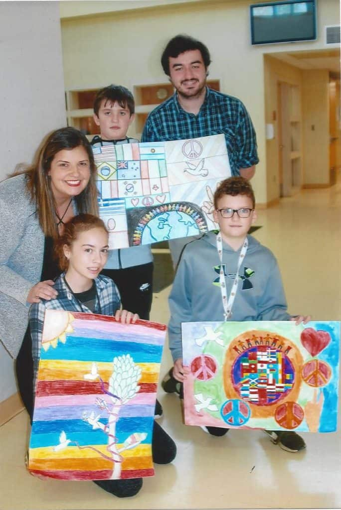 2018 Peace Poster Contest Winners Easton Lions Easton Middle School