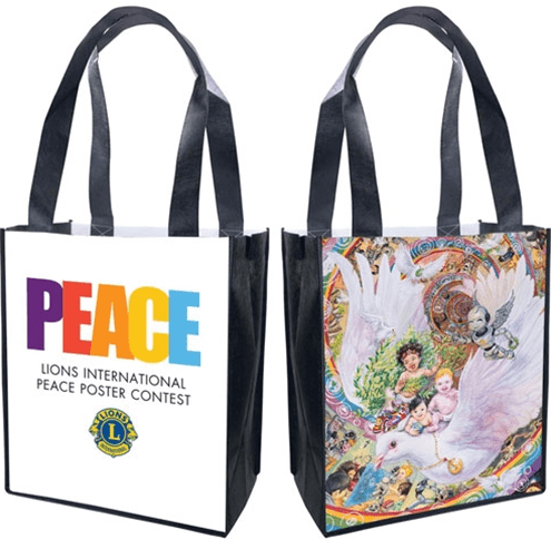 Lions International Peace Poster Bags.