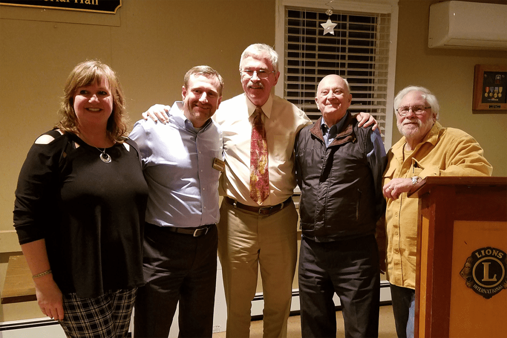 Easton Lions Meeting 2019-01-23 Avery Lee Williams LCI Global Key Awared for 250 Members.