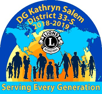 District 33-S Presidents Logo 2018-2019 Kathy Salem