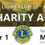 Banner for 2019 Easton Lions Auctions. Online from February 17 to March 1, 2019, and Live Televised Auction March 3, 2019