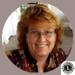 Lori Maver photo 2019 with Lions logo