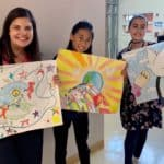 Easton Middle School top three peace posters for 2019-20