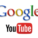 YouTube log under Google multicolor logo