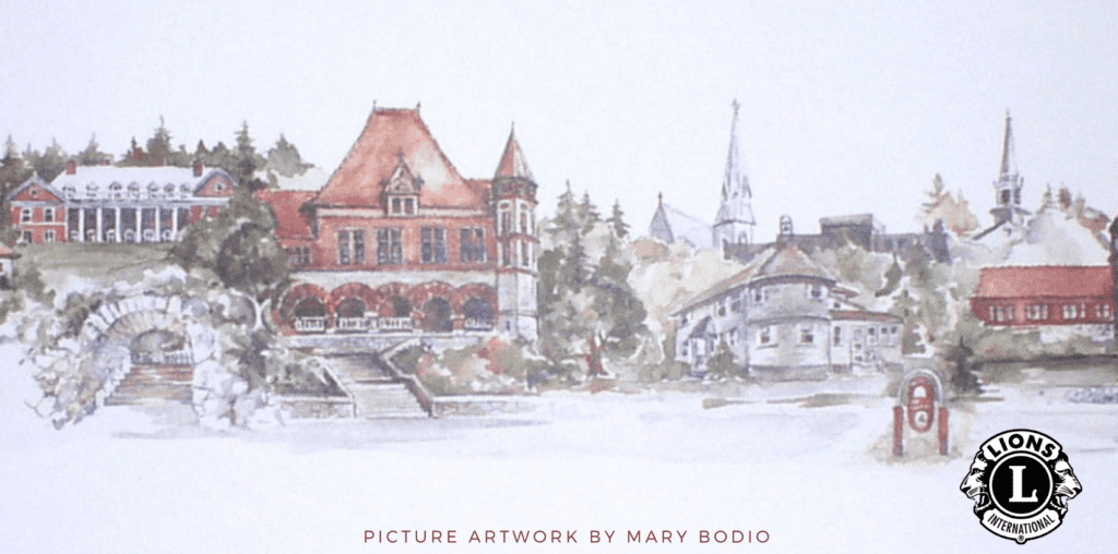 Mary Bodio's print of Easton landmarks
