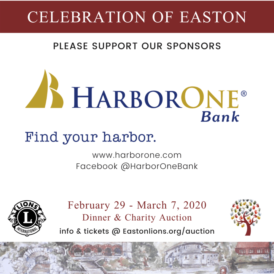 HarborOne Bank sponsor for Easton Lions Club Auction Celebration 2020