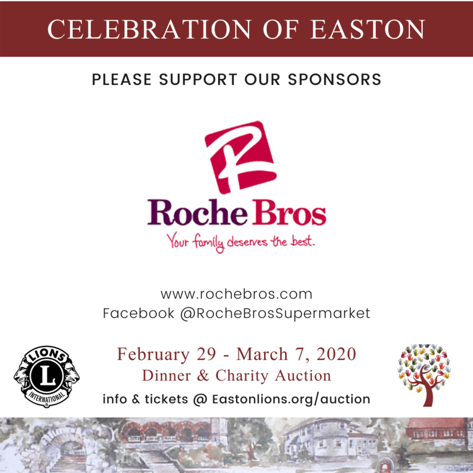 Roche Bros sponsor for Easton Lions Club Auction Celebration 2020