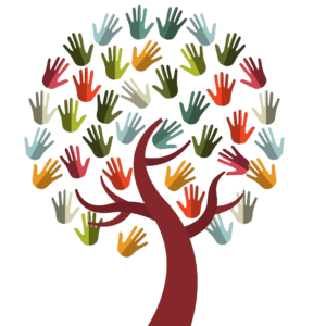Tree with leaves of hands
