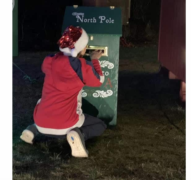 Easton Lions Santa's House North Pole mailbox
